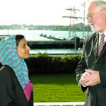 Sheika Lubna Guest of Schleswig-Holstein's Minister President